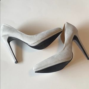 Rebecca Style Light Gray Pointed Toe Heels